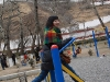 Exercising at a local park with local Tibetans