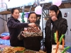 Students of Tibetan ethnic group enjoy traditional food on the first day of Tibetan new year at Liaoyang First High School in north China's Liaoning Province on Feb. 25, 2009. Tibetans across China are celebrating the 50th Tibetan New Year after the Democratic Reform with their old traditions.