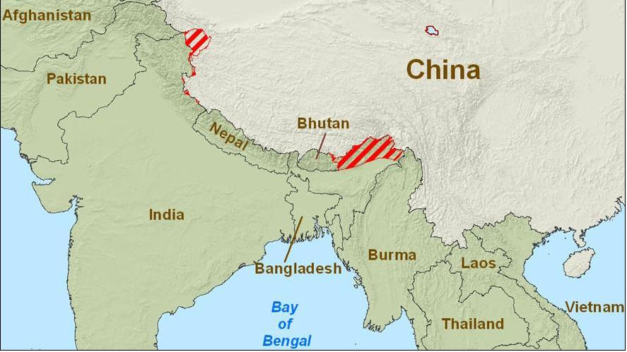 Actual Map Of India.A Brief History Of The Sino Indian Border Dispute And The Role Of Tibet